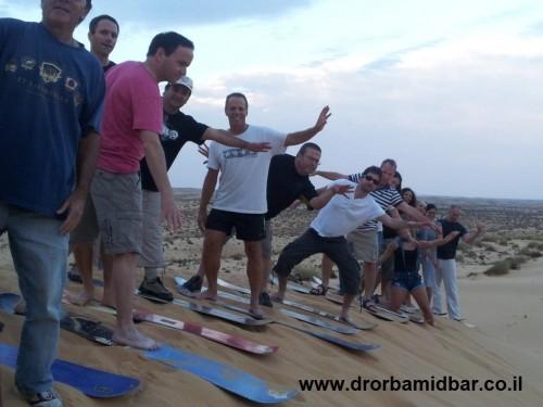 team sandboarding